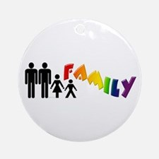Gay Pride Family Ornament (Round)