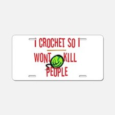 Cute Crochet Aluminum License Plate