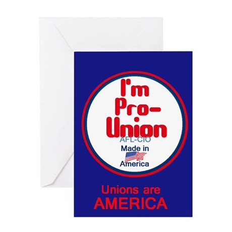 Pro Union Greeting Card