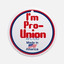 Pro Union Ornament (Round)