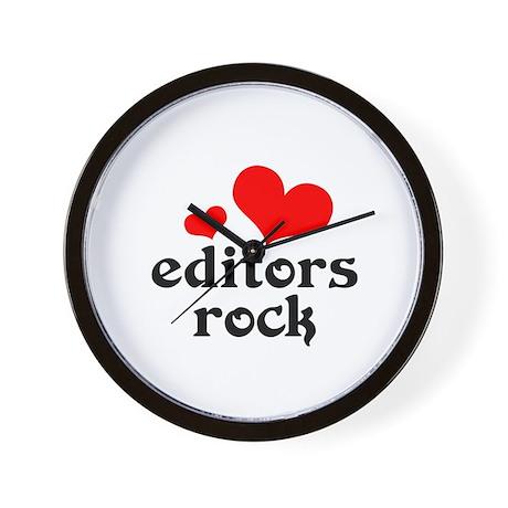 Editors Rock Wall Clock
