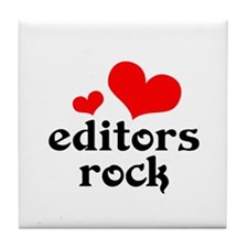 Editors Rock Tile Coaster