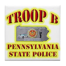 PA State Police Troop B Tile Coaster