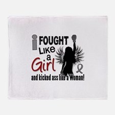 Licensed Fought Like a Girl 26S2 Bra Throw Blanket