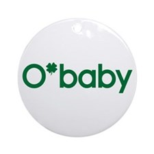 O'Baby Irish Baby Ornament (Round)