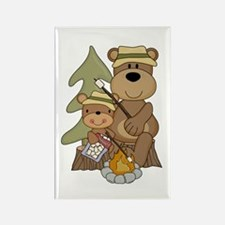 Bears Toasting Marshmallows Rectangle Magnet