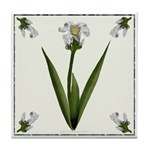 White Lily Tile Coaster