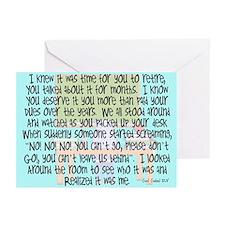 Retired Teacher Story Art Greeting Cards (Pk of 20