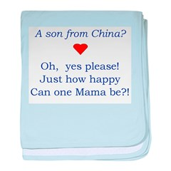 A Son From China baby blanket
