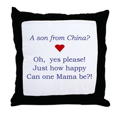 A Son From China Throw Pillow