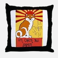 Le Shiba Throw Pillow