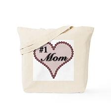 #1 Mom Heart Tote Bag