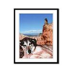 Doberman Shepherd Mix Framed Panel Print