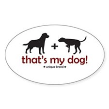 Lab/Pointer Oval Decal