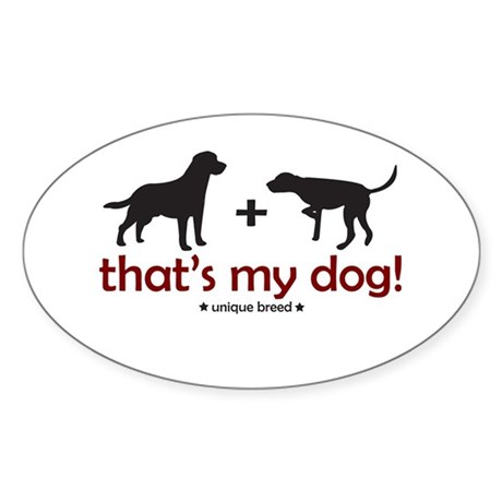 Lab/Pointer Oval Sticker