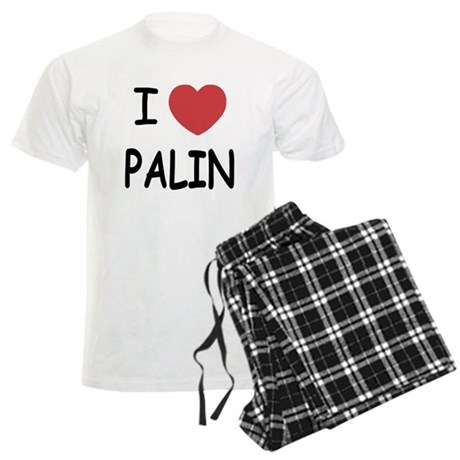 I heart Palin Men's Light Pajamas