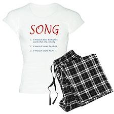 song defined Pajamas