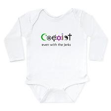 Co-Exist Section Long Sleeve Infant Bodysuit
