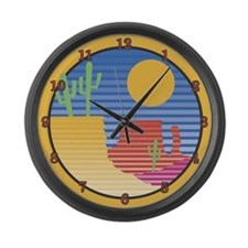 Southwestern Desert Large Wall Clock