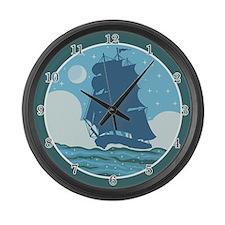 Sailing Ship Large Wall Clock