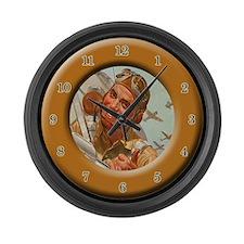 World War 2 Large Wall Clock