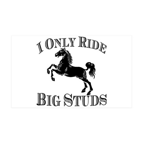 Big Studs - Rearing #1 - Black 35x21 Wall Decal
