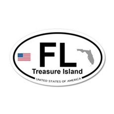 Florida City 22x14 Oval Wall Peel