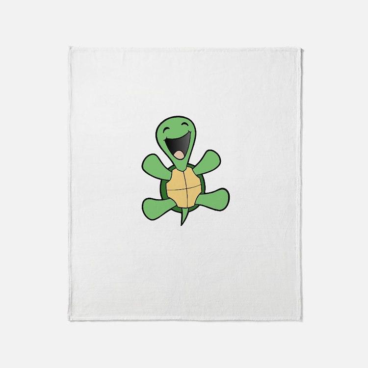Skuzzo Happy Turtle Throw Blanket
