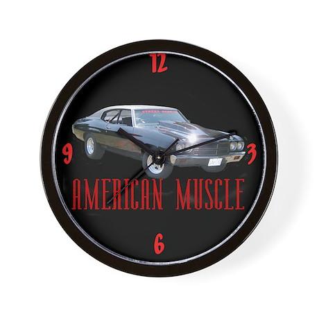 American Muscle Wall Clock