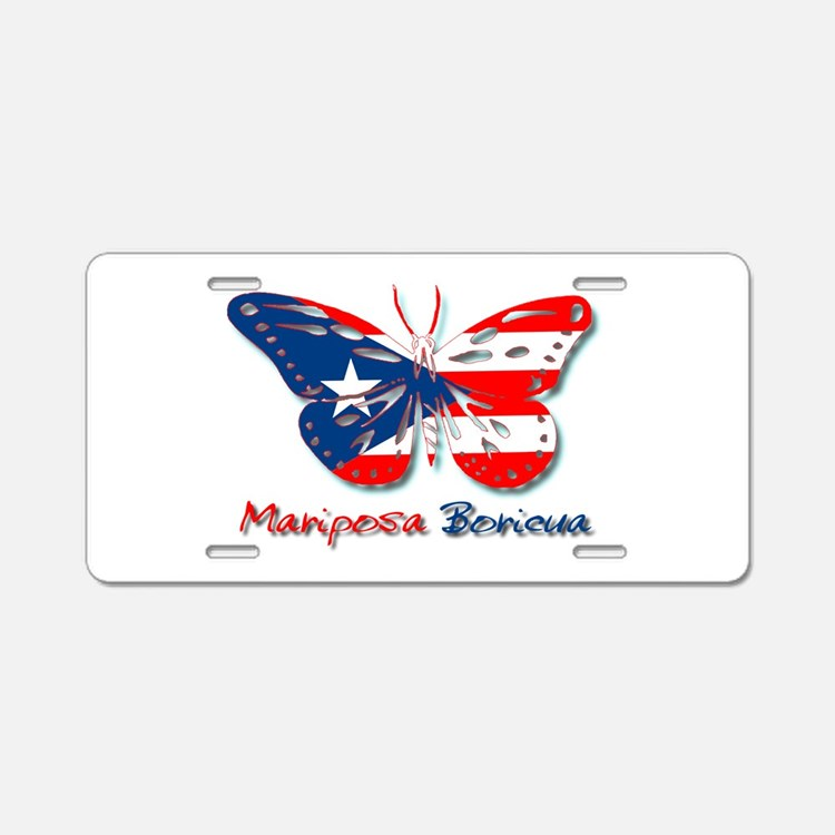 Cute Mariposas Aluminum License Plate
