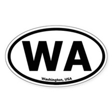 Washington Oval Bumper Stickers