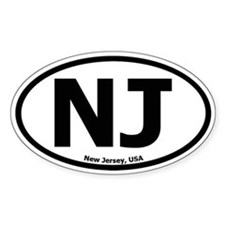 New Jersey Oval Decal