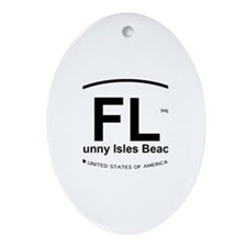 Florida City Ornament (Oval)