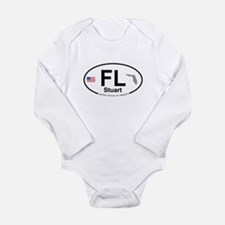 Florida City Long Sleeve Infant Bodysuit
