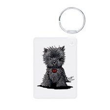 Affenpinscher Aluminum Photo Keychain