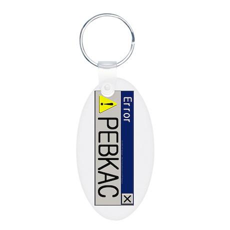 TF Designs - PEBKAC Aluminum Oval Keychain