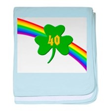 40th Shamrock baby blanket