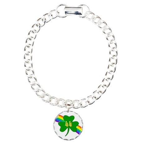 44th Shamrock Charm Bracelet, One Charm