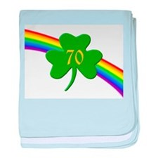 70th Shamrock baby blanket