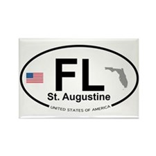 Florida City Rectangle Magnet