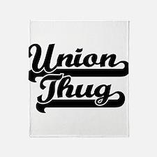 Union Thug Throw Blanket