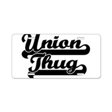 Union Thug Aluminum License Plate