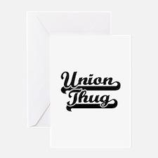 Union Thug Greeting Card