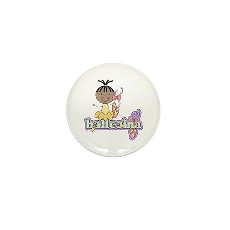 African American Ballerina Mini Button (10 pack)