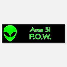 Alien P.O.W. Bumper Bumper Sticker