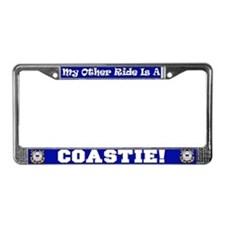 My Other Ride Is A Coastie (License Plate Frame)