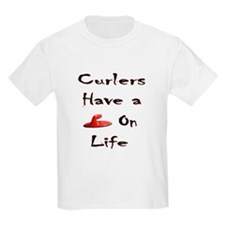 Curlers Have a Handle on Life Kids T-Shirt