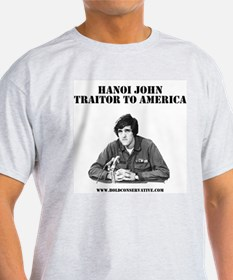 John Kerry Traitor Ash Grey T-Shirt