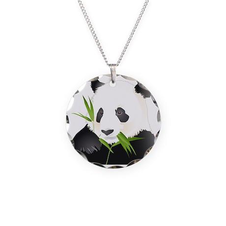 Panda Bear Necklace Circle Charm