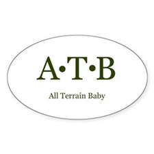 ATB-All Terrain Baby Oval Decal
